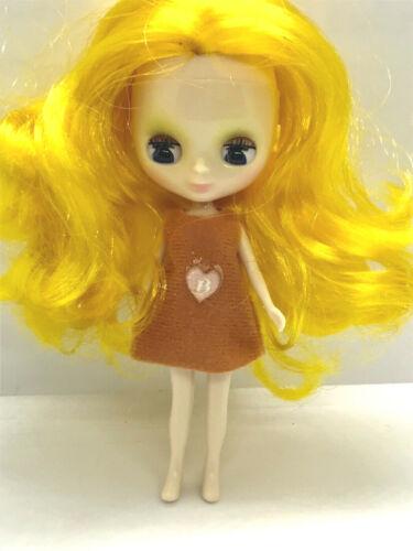 Yellow Hair Free Ship Factory Type Mini Petite Blythe