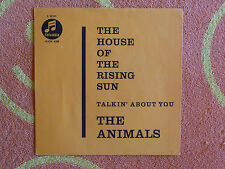 ANIMALS House Of The Rising Sun 45 rpm PICTURE SLEEVE ONLY Columbia 1964 Germany