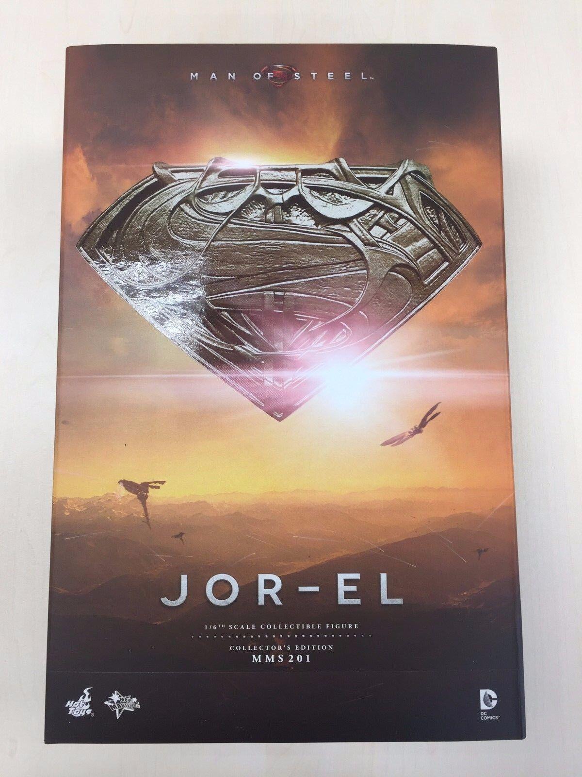 Hot Toys MMS 201 Man of Steel Superman Jor-El Russell Crowe 12 in (environ 30.48 cm) FIGURE NEW