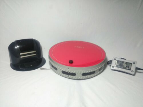 Bobsweep bObi Robotic pet Vacuum Scarlet Red With charger working