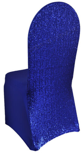 Wedding Linens Inc Sequin Banquet Spandex Stretch Chair Covers for Party Events