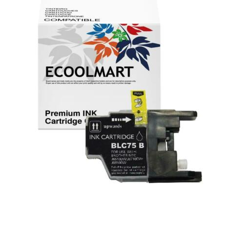 Black Ink for Brother LC75 LC75BK LC-75BK LC 75 BK Black ink Cartridge LC-75 1