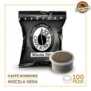 100-Cialde-Capsule-Caffe-Borbone-Miscela-Nera-Nero-comp-Lavazza-Espresso-Point