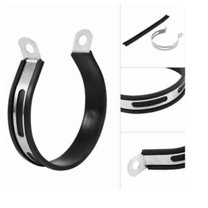 Carbon-Fiber-Holder-Clamp-Fixed-Ring-Support-Bracket-Exhaust-Pipe-MufflerEscapeR