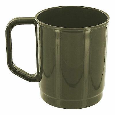 6 x Highlander Poly Plastic  Camping 20cm Poly Soup Bowl Olive