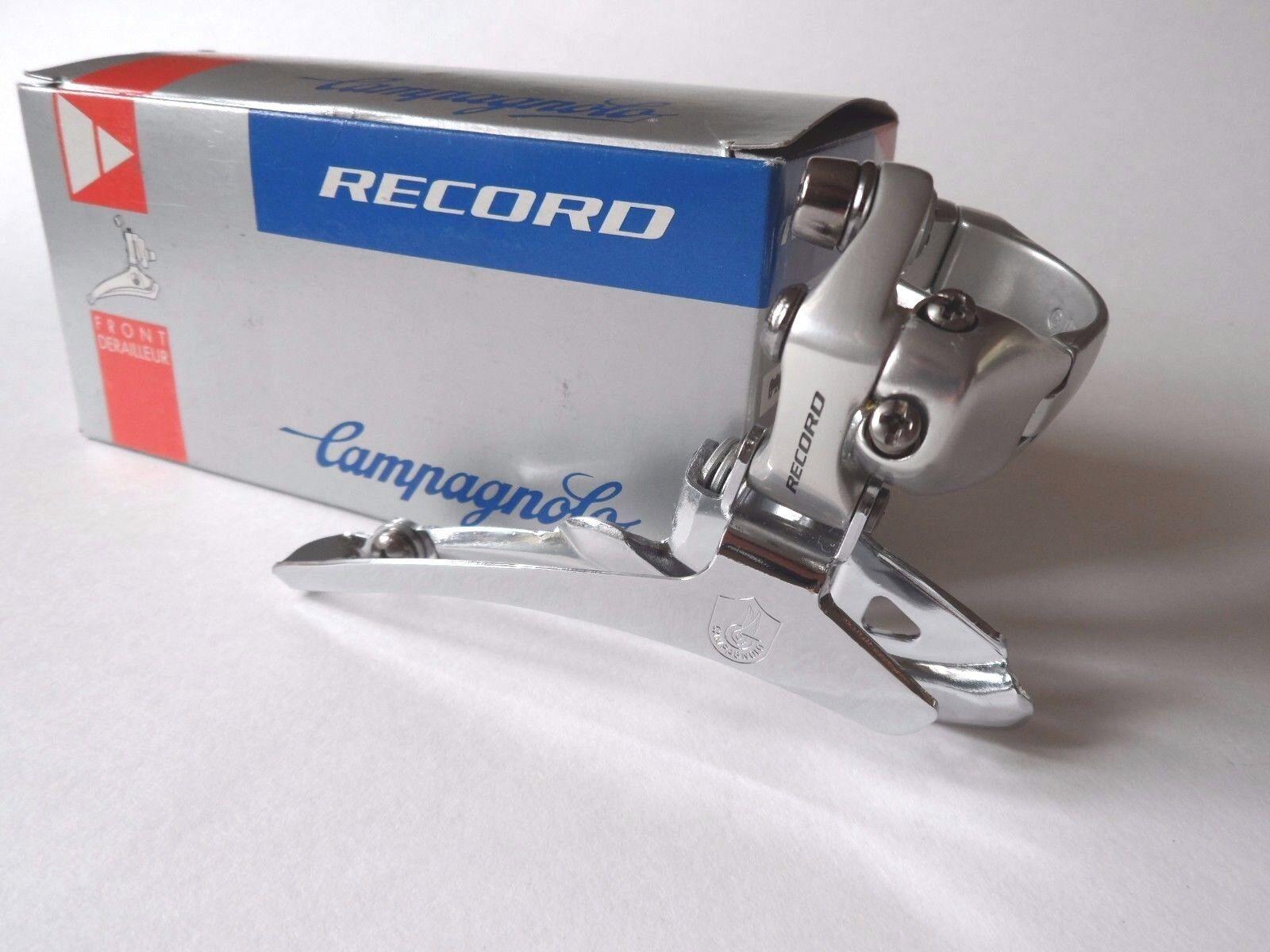 NOS Vintage 1990s Campagnolo Record (Titanium) double front clamp-on derailleur