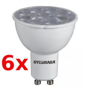 6x-SYLVANIA-DEL-ampoules-es50-gu10-4-W-30-827-230-V-de-rechange-f-35-W-Halogene