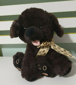TINKERS-BROWN-DOG-CUDDLY-SOFT-TOY-PLUSH-TOY-23CM-TALL-BROWN-BONES-ON-BOW