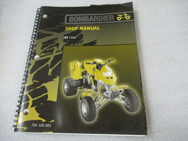 Bombardier Ds 7404 Shop Manual P  N 704100005