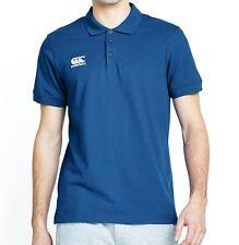 Canterbury Mens S Victoria Blue Waimak Polo Shirt BNWT Rugby T-Shirt Free P&P