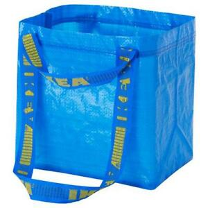IKEA-BRATTBY-SMALL-BLUE-SHOPPING-LAUNDRY-GROCERY-TOTE-BAG