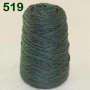 Sale-1-Cone-400g-Worsted-Cotton-Chunky-Super-Bulky-Hand-Knitting-Yarn-Dark-Green