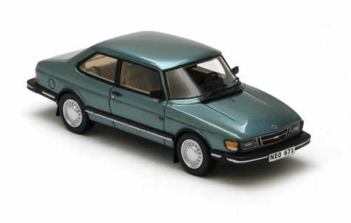 Saab 90  Green Metallic  1985 (Neo Scale 1 43   43671)