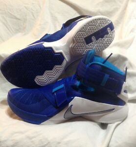 f9660bbf727 Nike 749498-401 Lebron Soldier IX TB Blue White Basketball Shoes ...