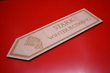 Wooden Bookmark Game Of Thrones Stark Dire Wolf Sigil Winter Is Coming Starks