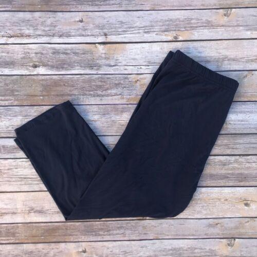 Navy Blue Solid CAPRI Women/'s Leggings PS Plus Size 12-18 Soft as LLR