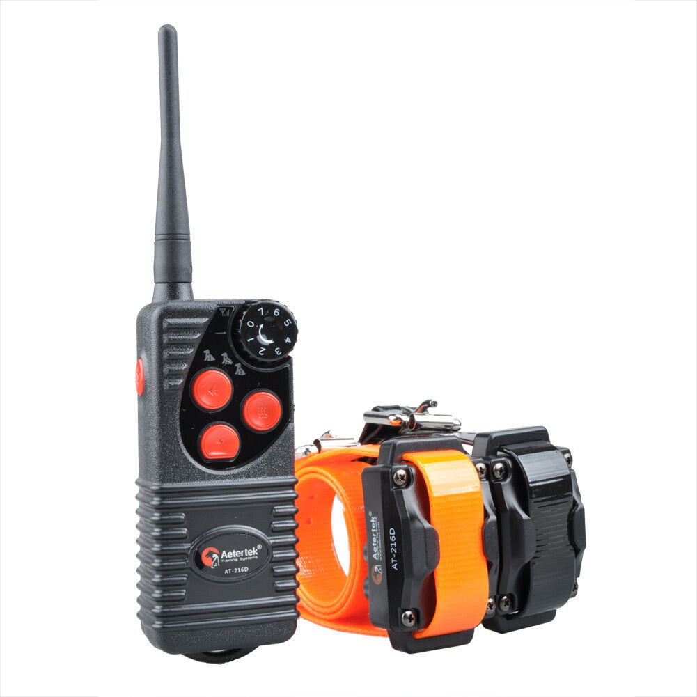 Aetertek 216D Waterproof Remote Dog Shock Training Training Training Collar 600 Yards Rechargeable 603792