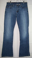 "ABERCROMBIE & FITCH Flare jeans Sz 4R Button up waist 32.5 x inseam 32.5 41""long"