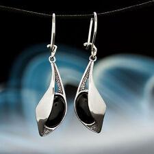 Onyx Silber 925 Ohrringe Ohrstecker H 196
