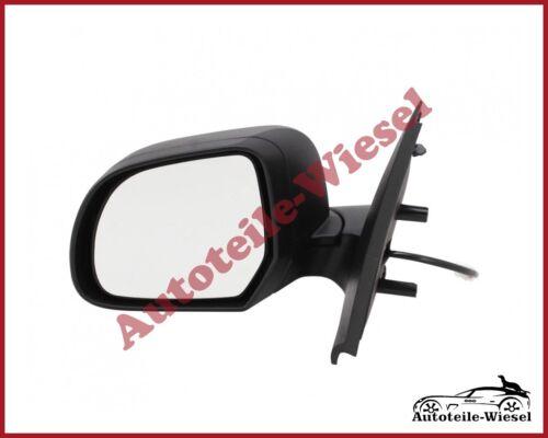 Schwarz für Dacia Dokker Lodgy ab 2012 Heizb Außenspiegel Links Ele