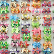 50pcs Wholesale Children Kids Girl Butterfly Fimo Rings Cocktail Polymer Clay