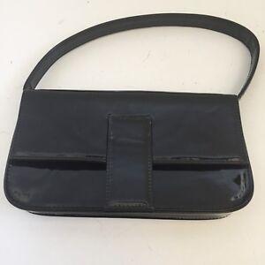 Sisley Black PVC Medium Clutch Size With Handle Ladies Handbag W10 ... 0772fdce4a549