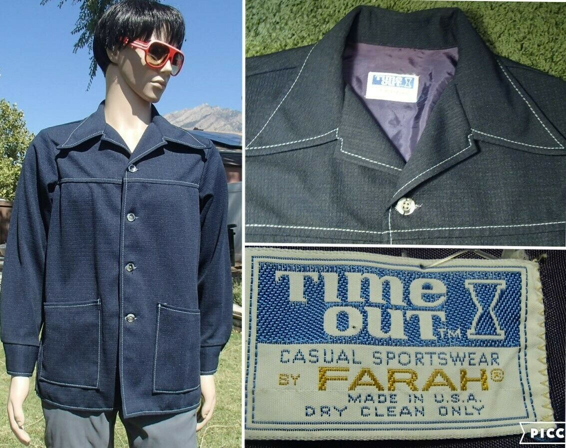 Vintage Time Out by Farah Shirt Size Large D23