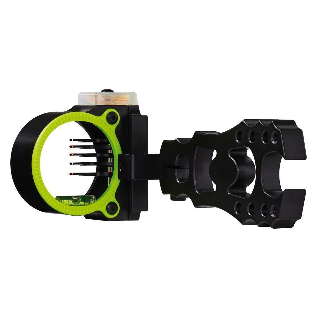 Nuevo punto de Flash Negro oro Rush 5 Pin (.019) mano derecha arco Vista Modelo Negro
