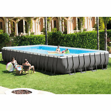 "Intex 32'x16'x52"" Ultra XTR Rectangular Above Ground Swimming Pool Set 26371EH"