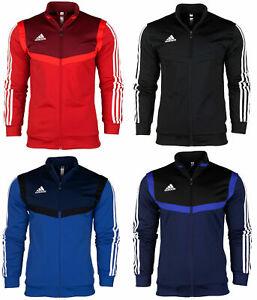 adidas-Tiro-19-PES-Junior-Jacket-Full-Zip-Top-Tracksuit-Football-Sport-Black