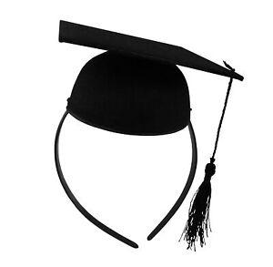 Mini-Graduation-Cap-Headband-Hat-Child-Adult-School-Party-Costume-Accessory-Prop