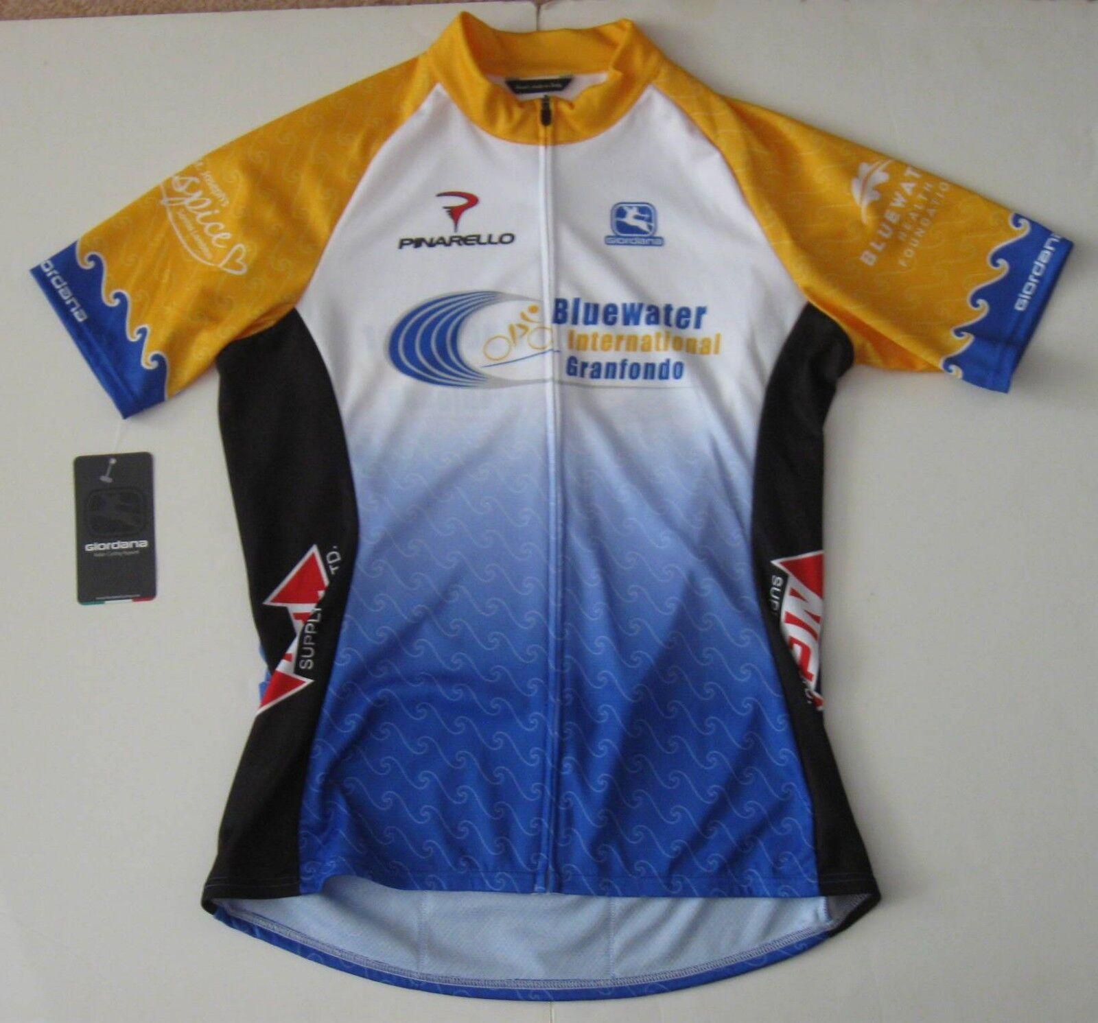 XL Damens Giordana Full Zip Vero Cycling Blauwater Jersey Blauwater Cycling Polyester new NWT 90ff21