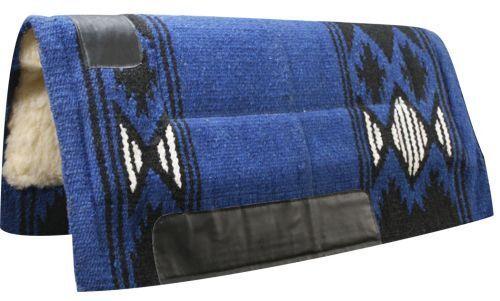 32 x34  blu Wool Top Top Top Western Cutter Style Saddle Pad w  Navajo Design  NEW   2dd241