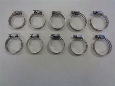 """QTY 10 MARINE BOAT TRIDON STAINLESS STEEL HOSE CLAMP 5/"""""""