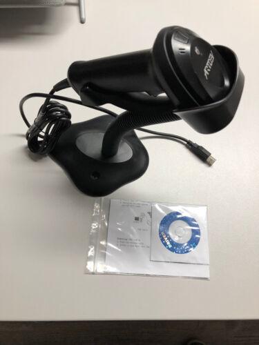 Artdev AS-1310 2D Barcode Scanner/Handscanner schwarz mit Standfuß,USB,neuwertig
