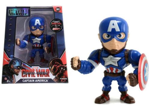"Jada Toys 4/"" Metals Diecast Figure 97558 Captain America Civil War"