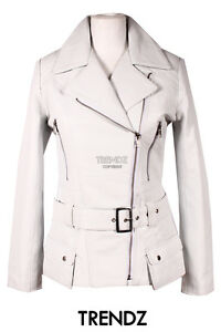 2812 Biker Seventies Jacket Hip Leather Length White Ladies Orchid Lambskin qwpCxPEE