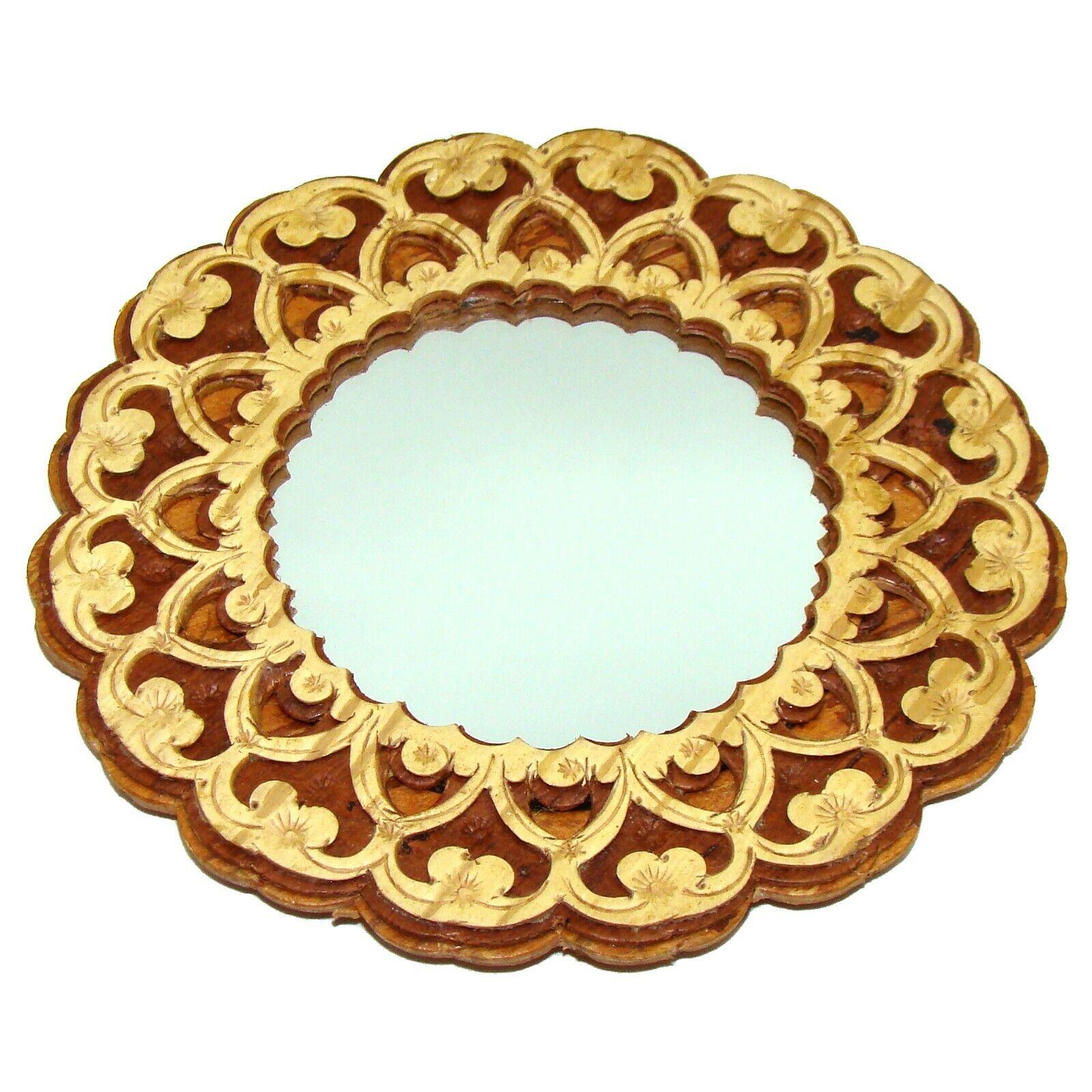 Miroir de sac original - Artisanat russe - Miroir collection en bois, écorce