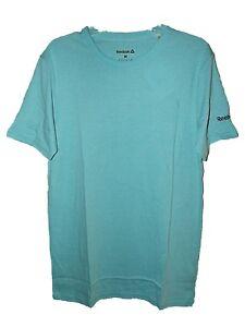 Nouveau-Homme-Garcons-Neo-Blue-Reebok-Workout-Training-Gym-Course-T-Shirt-Top-Sz-M-L-XL
