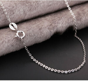 GENUINE-925-Sterling-Silver-Solid-1MM-Link-Chain-Necklace-for-Pendant-Stunning