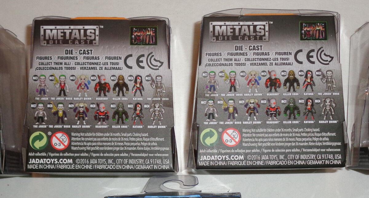 Lot of (8) Jada Toys Metals Die Die Die Cast figures 4  & 2.5   NEW, various characters 5bf2d4