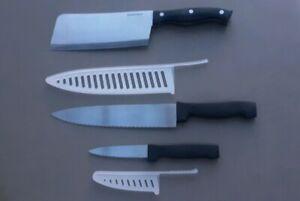 3-Piece-Knife-Set-Sharper-Image-Cleaver-Butcher-Knife-Slicing-amp-Prep-Knife