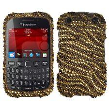 Plastic Diamond Tiger Skin Cover Phone Protector Case for BlackBerry Curve 9310