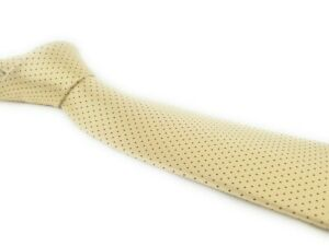 Amazing-Champagne-BRIONI-Tie-with-Red-Micro-Dot-Fine-Luxury-Silk-Necktie
