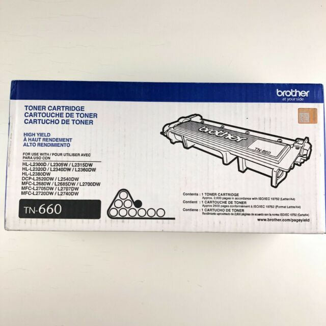 Brother TN-660 TN660 High Yield Black Toner Cartridge Genuine New Open Box