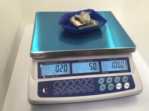 Australian Coin Counting Scale 30kg