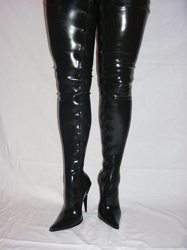 Goma De Látex Fetiche de botas talla 4-12 4-12 4-12 - Tacones 5,5   -13 Cm-productor-Polonia 408  barato