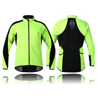 Men's Long Sleeve Cycling Jersey Jackets Winter Thermal Fleece Windproof Coats