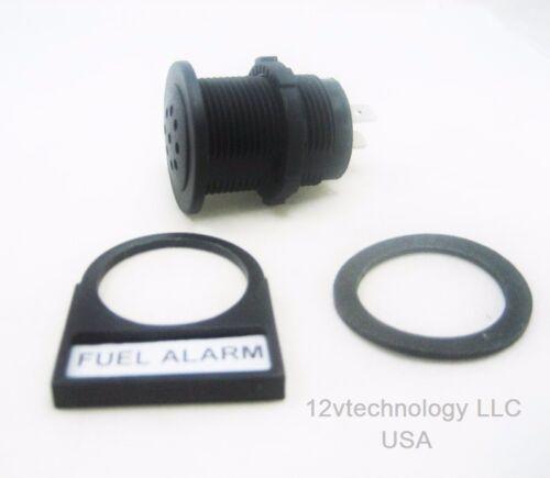 Warning Alarm w//LED Loud Piezoelectric Tone Signal 12V Marine Socket Panel Dash