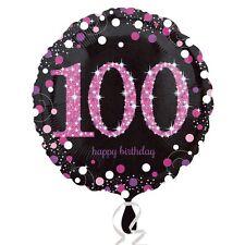Pink Celebration 100th Birthday Foil Helium Balloon